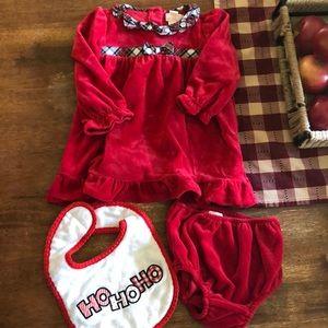 Chaps Holiday Fleece Dress